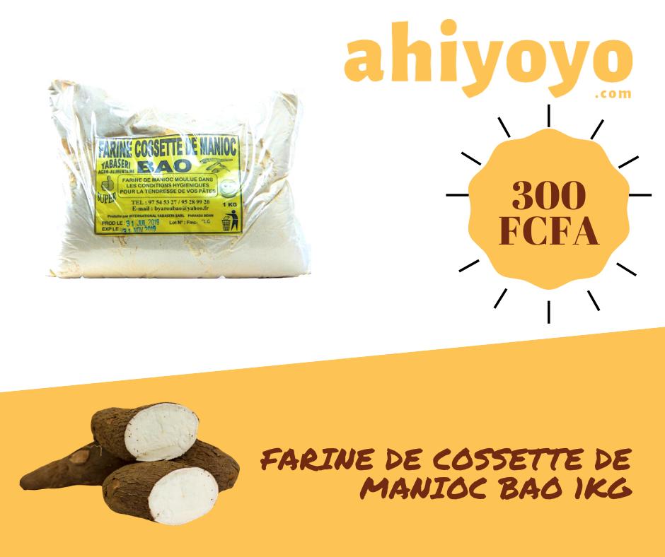 Farine de cossette de manioc Bao 1KG | Ahiyoyo.com